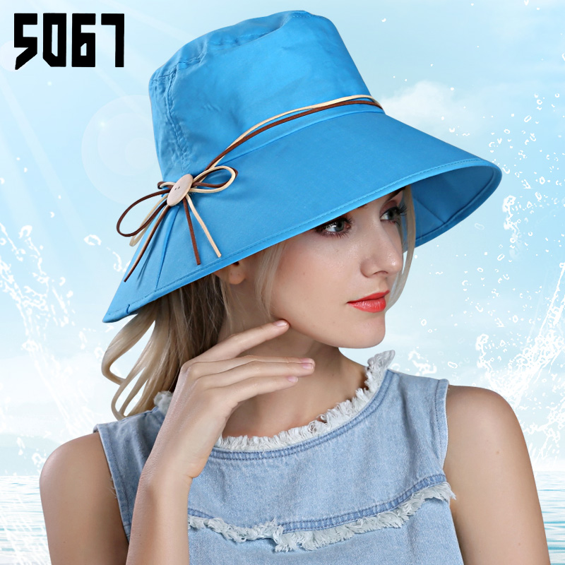 Ms. korean tidal summer sun hat summer hat large brimmed sun hat folding beach swim out south korean fisherman hat