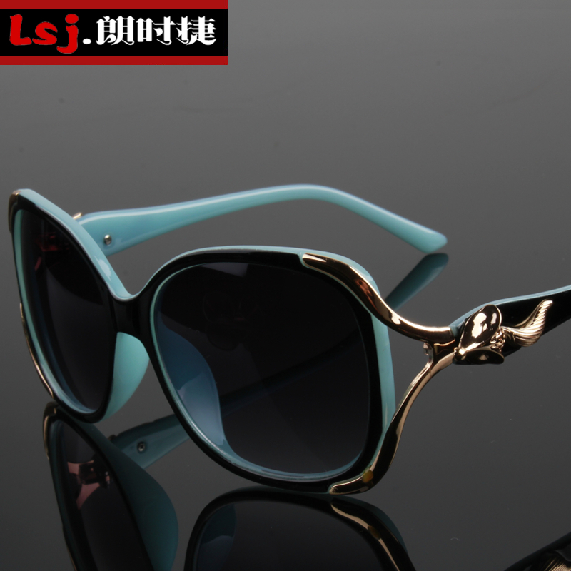 Ms. korean version of the new ms. sunglasses sunglasses uv sunglasses fashion big box round sunglasses female influx of people