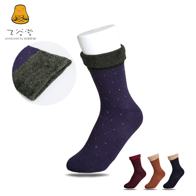 Ms. new autumn and winter fashion solid little flat valley church 100只manufacturers short socks wool socks warm socks 4 pairs free shipping