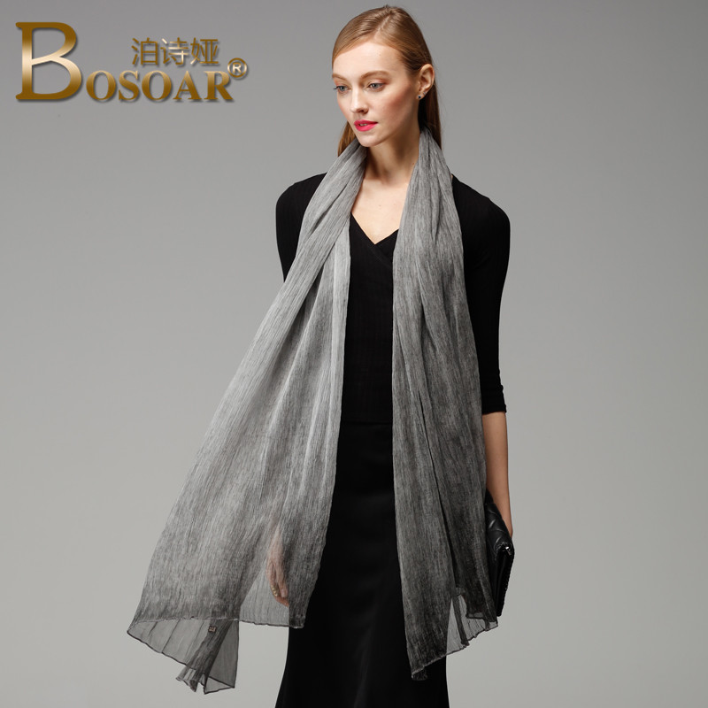 Ms. new Bosoar2016 fashion gradient silk scarf silk scarves long section of two with ms. wild shawl scarf
