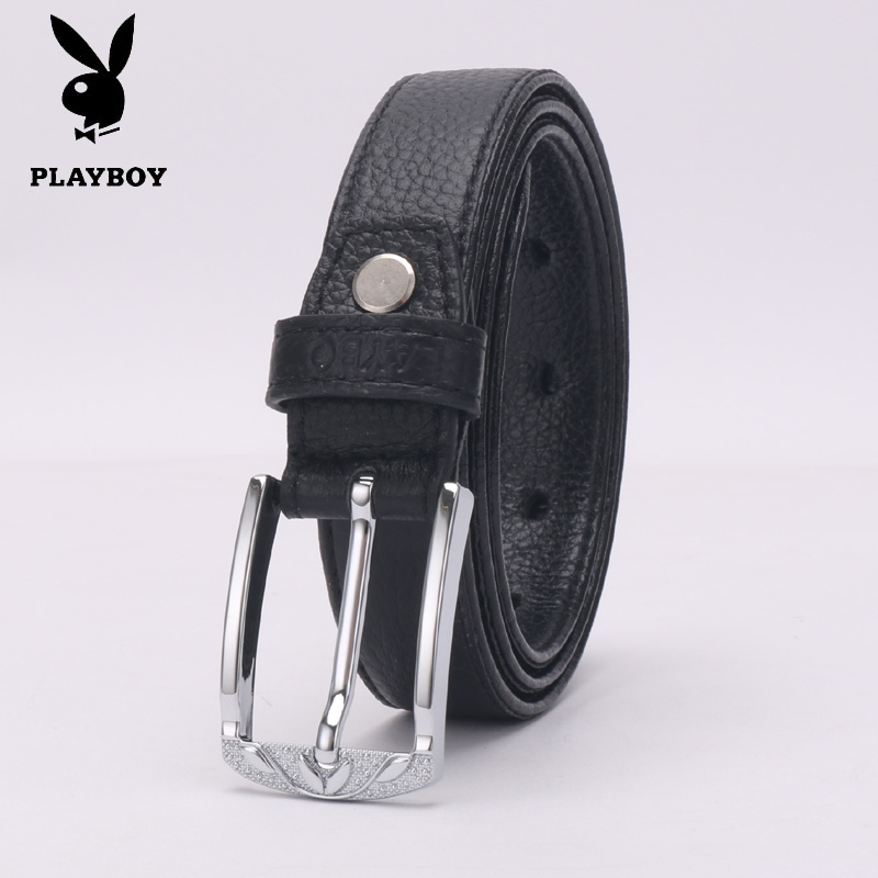 Ms. playboy pin buckle leather belt fashion leisure wild pure leather belt female models fine decorative leather belt