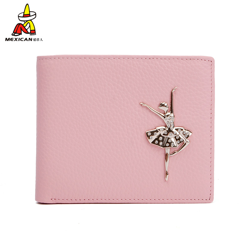 Ms. scarecrow short mini slim small leather wallet purse leather wallet women wallet 2016 new simple yet when