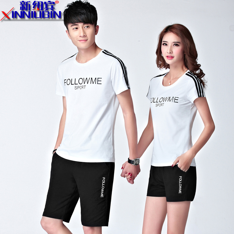 Ms. summer new couple sportswear sportswear men round neck short sleeve leisure suit large size men's jogging track suit