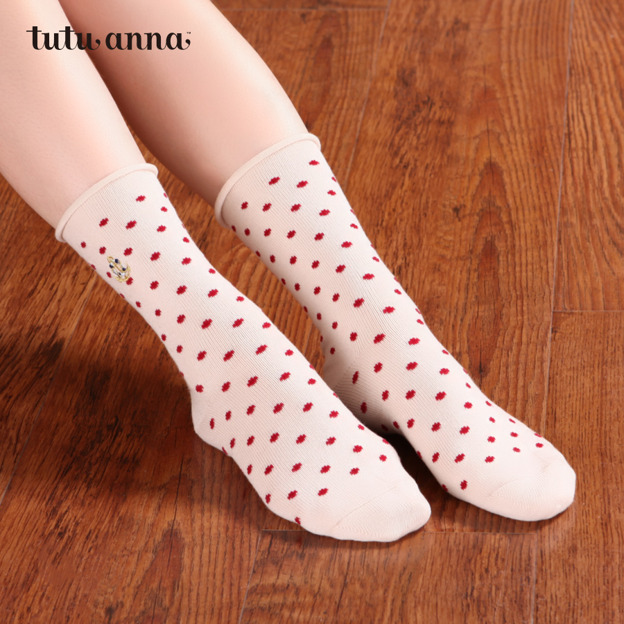 Ms. summer socks cute socks polka dot socks tutuanna