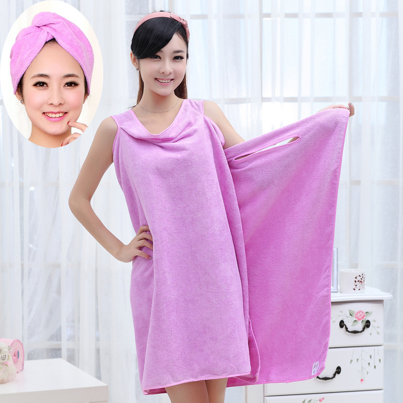 Ms. variety magic bath towel can be worn bathrobe bathrobe couple adult bath skirt bathrobe