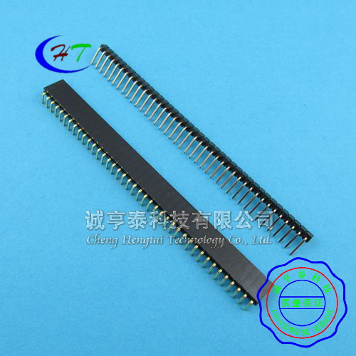 [Mt] single row looper + single row of curved female spacing 2.54mm 1*40 p bent pin + bend Pai pai mother 5 set