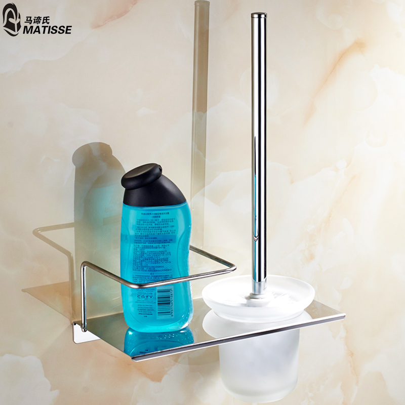 Multifunction 304 stainless steel toilet brush holder toilet brush toilet brush toilet suite bathroom countertops with shelf