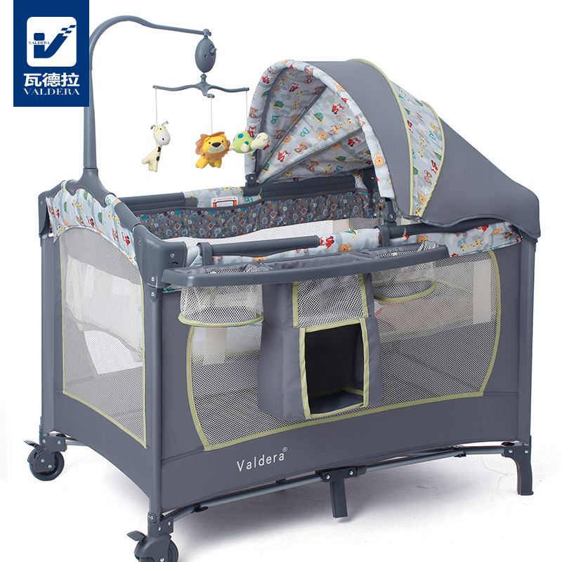Multifunction folding valdera hercribon euclidian small cradle bed portable playpen crib bb baby child