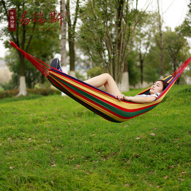 Multifunction outdoor camping hammock indoor dormitory student dormitory single or double thick canvas hammock swing home