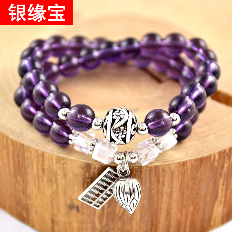 Multilayer ms. bracelets bracelet male and female beaded purple rainbow eye lucky buddha transport bead lovers crystal hand jewelry