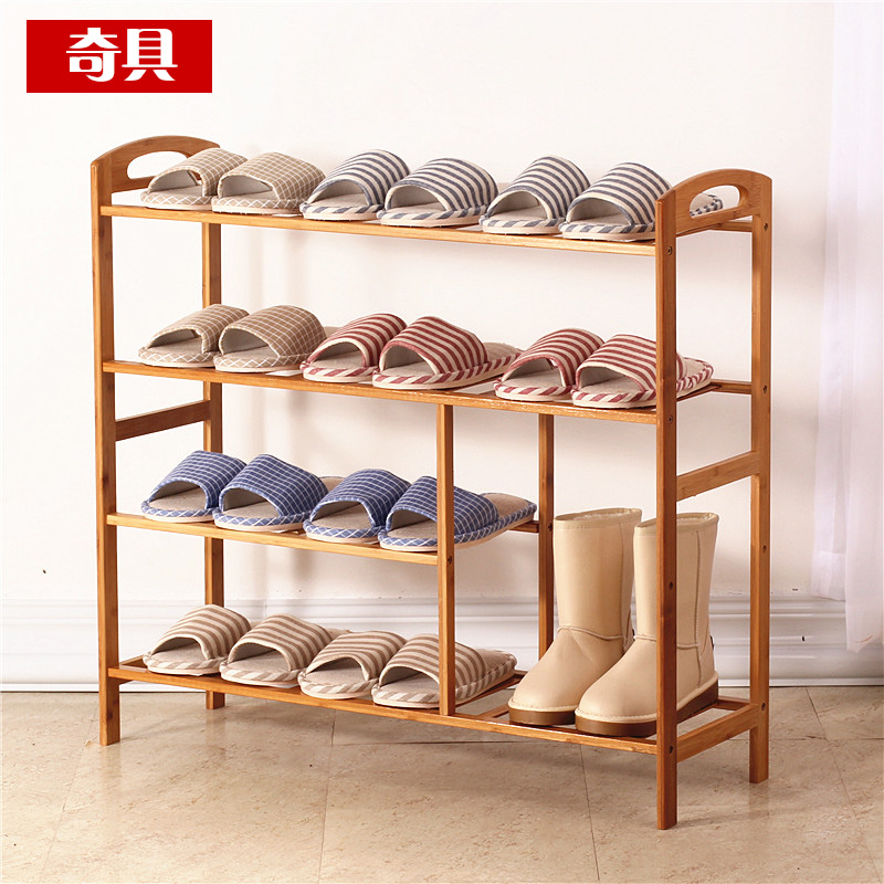Multilayered wood dust bamboo shoe rack simple shoe shoe storage rack shelving sub special offer creative minimalist