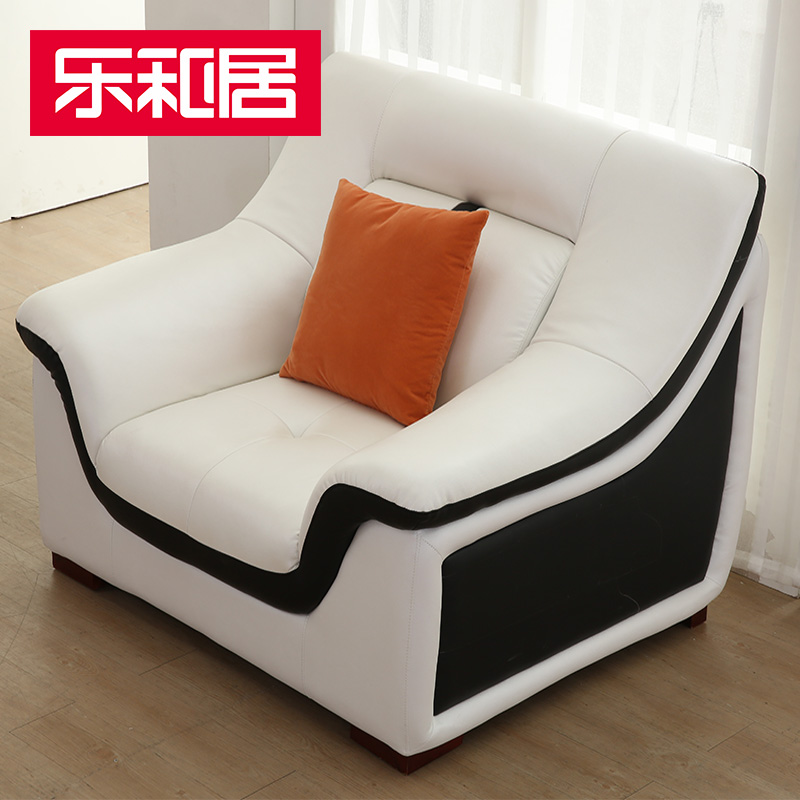 Music and home minimalist modern sofa european imports of leather sofa leather sofa in the thick double handrails single bit