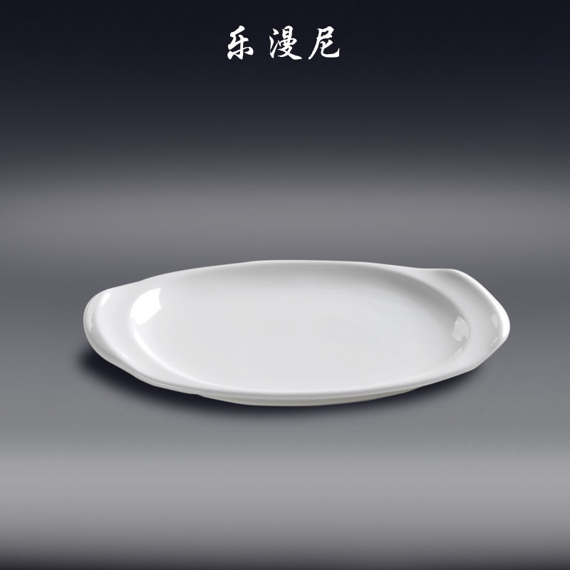 Music man nepal-triumph oval dish steamed fish dish hot plate cooking hot hotel ceramic tableware porcelain selling in