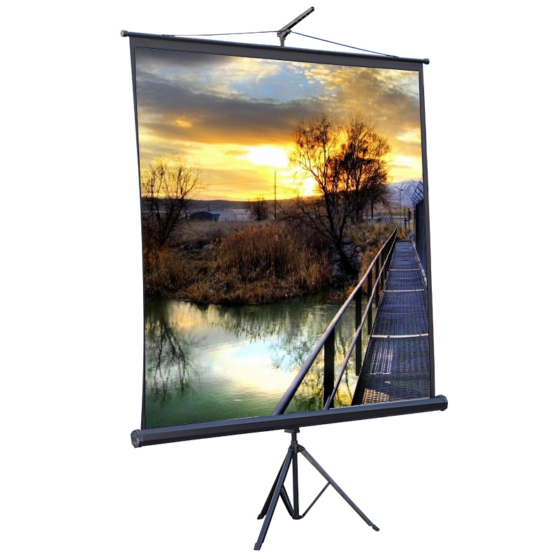 Music star 100 inch 4:3 black bracket projection screen portable projector screen projector screen mobile office