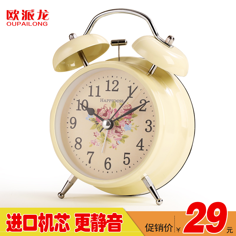Mute students creative personality bedside alarm clock lazy luminous electronic small alarm clock cute cartoon children