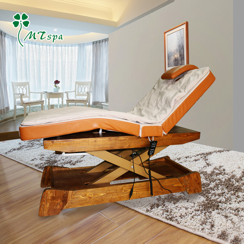 Mztspa upscale electric beauty bed wood new automatic lifting body massage massage the entire shaped bed MD38