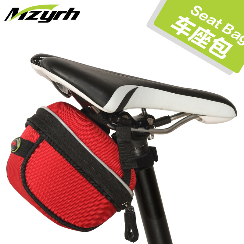 Mzyrh bike tail bag mountain bike road bike saddle bag water repellent tail bag back seat riding equipment package