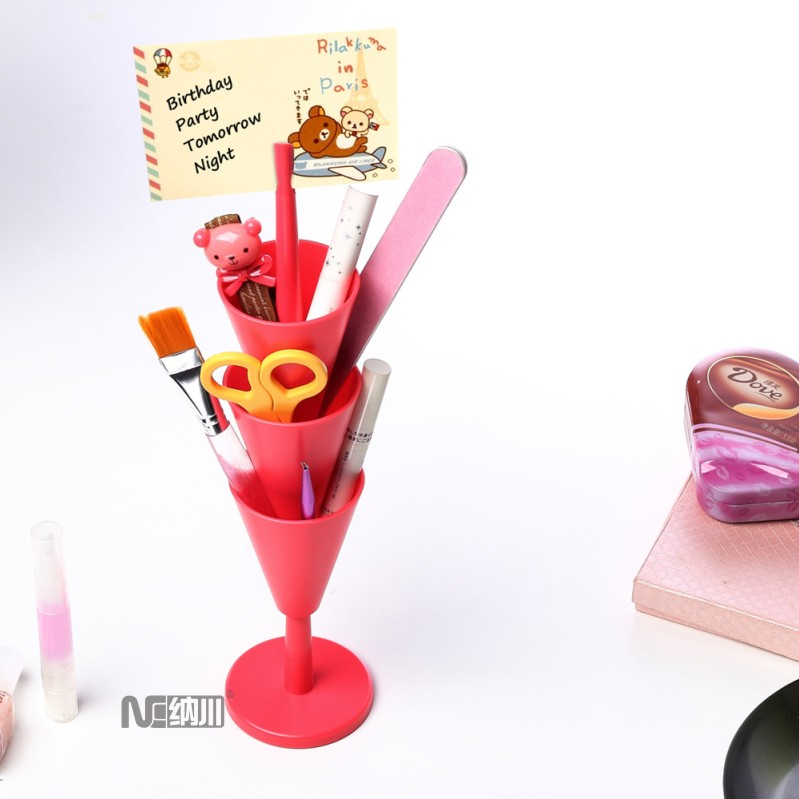 Nachuan creative multifunction desktop storage box office stationery storage tower objects organize creative pen