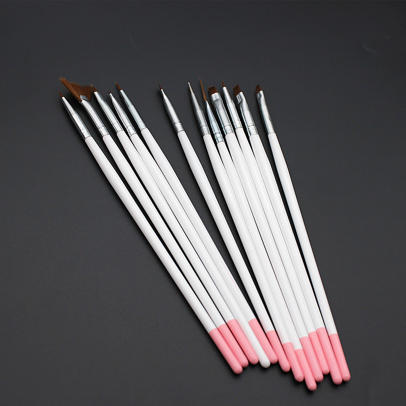 Nail pen tool drill point stayguy phototherapy nail painting paint pigment painted carved crystal pen 12 branch brush