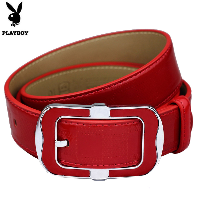 Natal ms. authentic playboy pin buckle leather belt ms. belt leather belt red pin buckle leather belt fashion