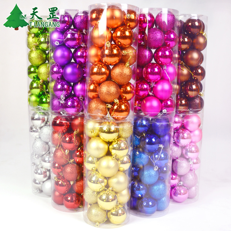 National day of 10cm barrels of light ball plating ball christmas ball ornaments charm pendant ornaments matt ball ornaments