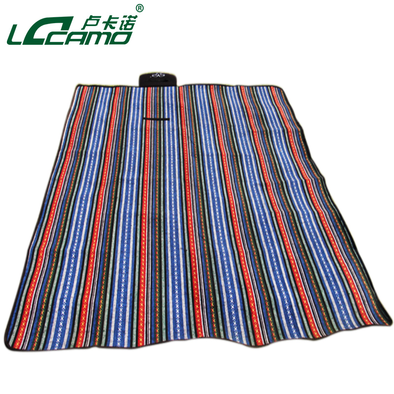 National wind retro outdoor picnic mat moisture pad beach mat baby crawling mat thick two color quality assurance