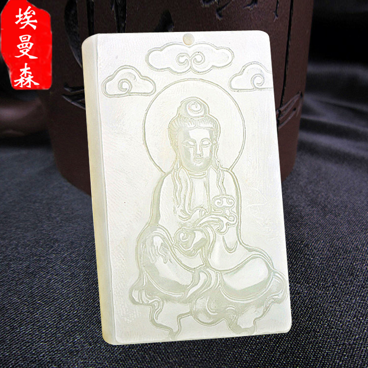 Natural and nephrite jade guanyin pendant male avalokitesvara jade pendant natural jade pendant male female guanyin buddha