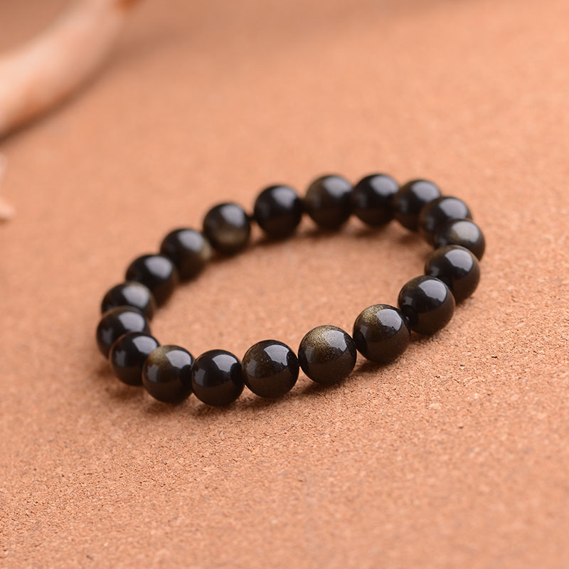 Natural gold obsidian obsidian eyes double gold bracelet gold obsidian bracelets bracelet male and female transporter