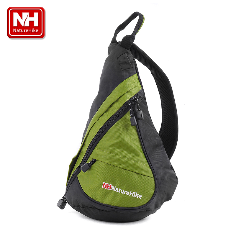 Naturehike-nh outdoor shoulder bag backpack oblique triangle bag drops messenger bag sports men and women riding backpack