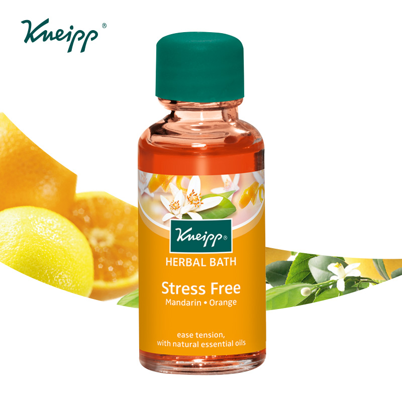 Navel orange bubble kneipp kneipp bath oil huile de bain plants imported from germany