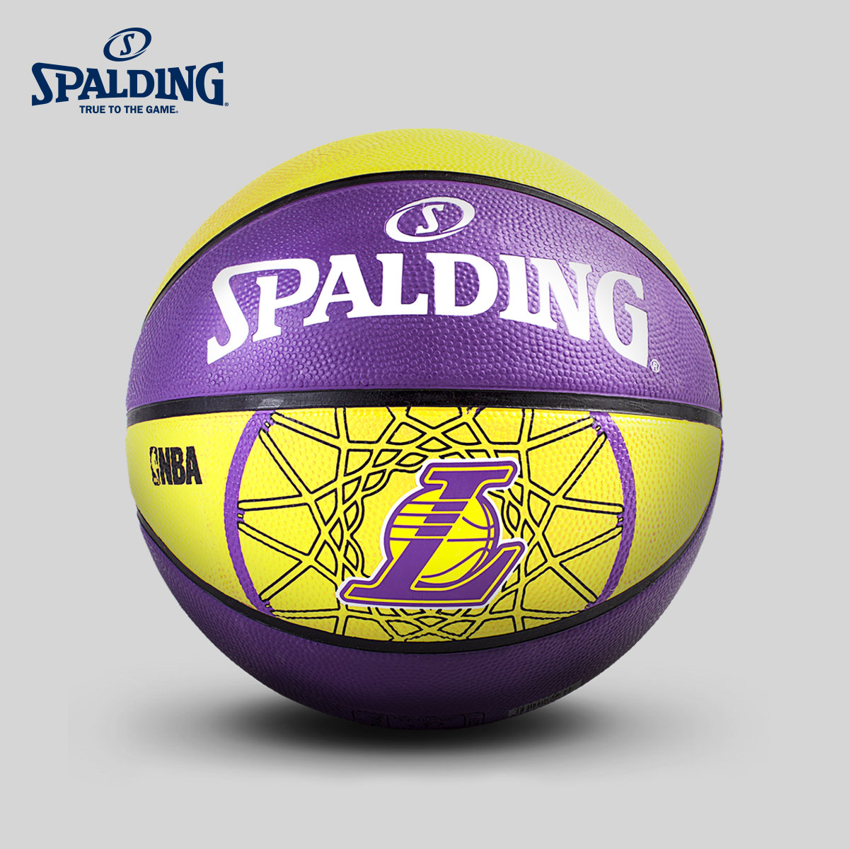Nba los angeles lakers team logo rubber basketball spalding official flagship store 83-156Y