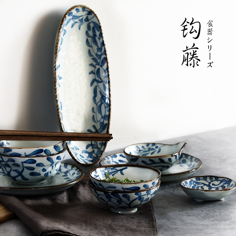 Get Quotations · Ndp suit japanese wind ceramic tableware creative dishes dishes dishes dishes suit wedding gifts household underglaze & China Japanese Dishes China Japanese Dishes Shopping Guide at ...