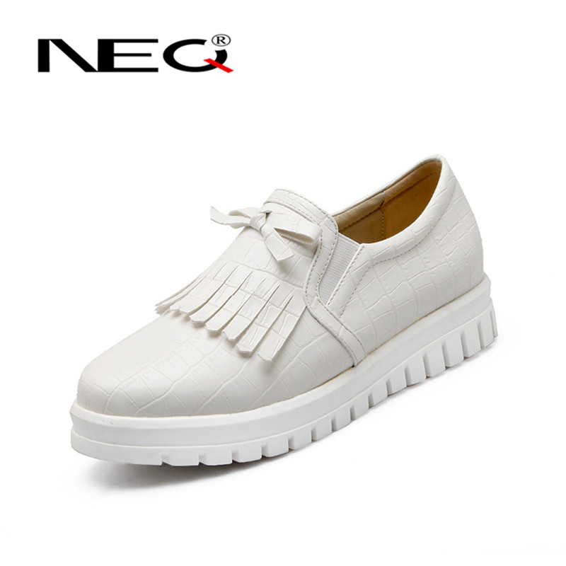 Neq shirtwaist ms. low shoes 2016 new solid college wind deep mouth round flat shoes tide shoes 9886