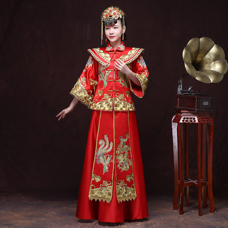 New 2016 spring and summer cheongsam dress wedding toast clothing xiu chinese dress bridal gown wedding dress wedding dress hi