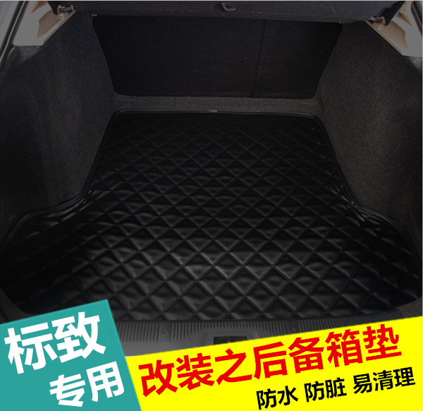 New 408 peugeot 2008 3008 308 s 301 508 dedicated trunk mat leather trunk mat