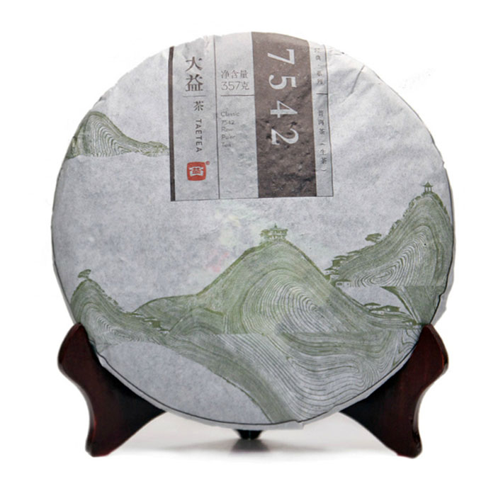 New 7542 great benefits great benefits pu'er tea in 2014 1401 batch raw tea 357g yunnan seven cake