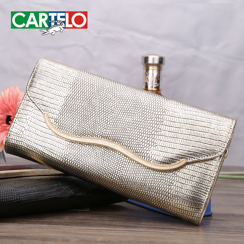 Get Quotations · New cartelo female handbag fashion handbags women clutch  diagonal package european and american women style clutch 1881e559fcad0