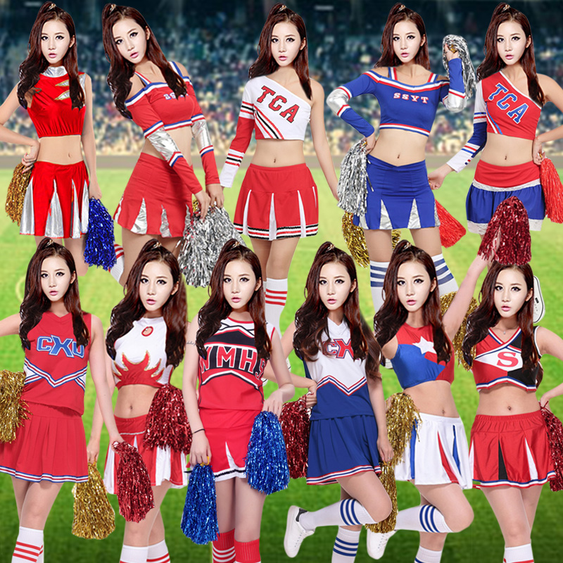 New cheerleading apparel adult students football baby cheerleaders clothing costumes aerobics apparel group