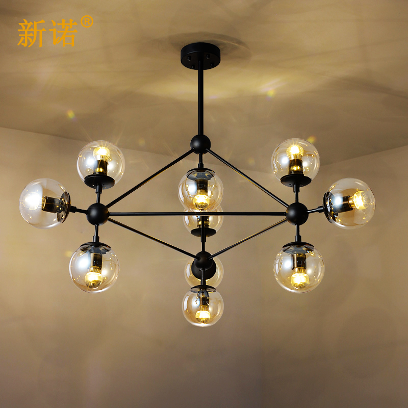 New connaught modo beanstalk dna molecule creative scandinavian minimalist living room dining bubble glass ball chandelier art