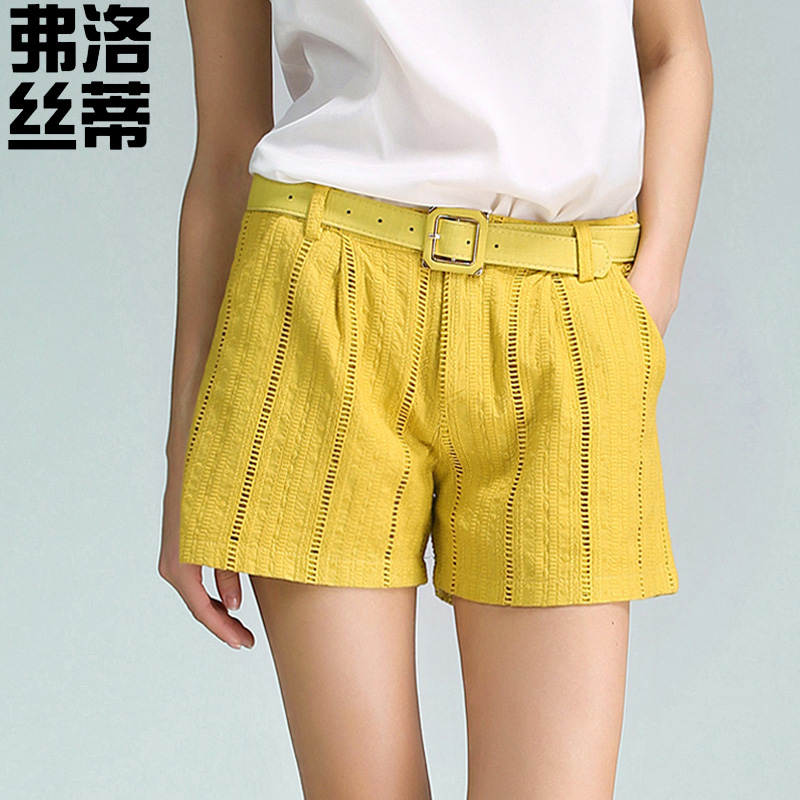 New cotton thread empty wide leg pants loose casual shorts female summer shorts cotton casual pants big yards joker