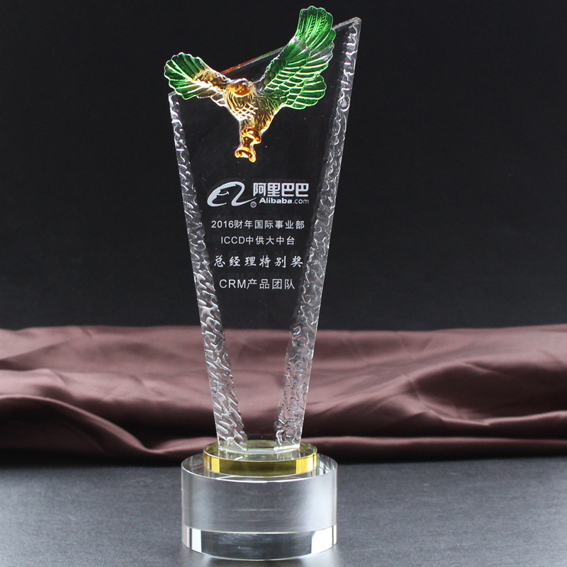 New crystal glass trophy crystal trophy crystal award medals creative custom trophy trophy tournament trophy