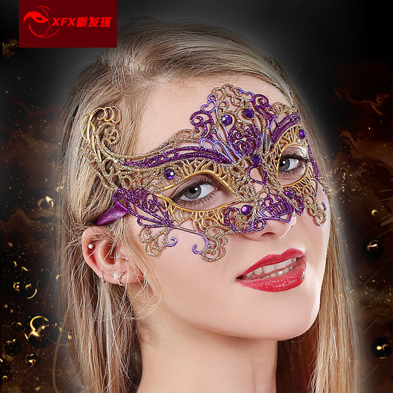 New discovery christmas headdress photography portrait lace sexy black lace mask masquerade mask