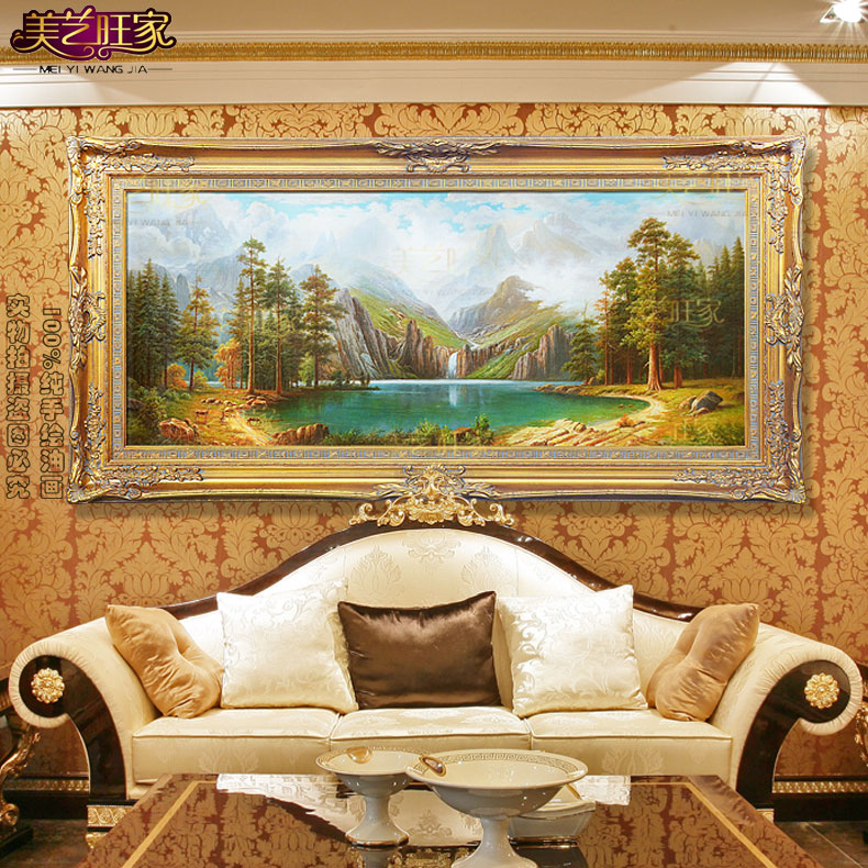 Get Quotations New European Landscape Pure Hand Painted Oil Painting Decorative The Living Room Feng Shui Office