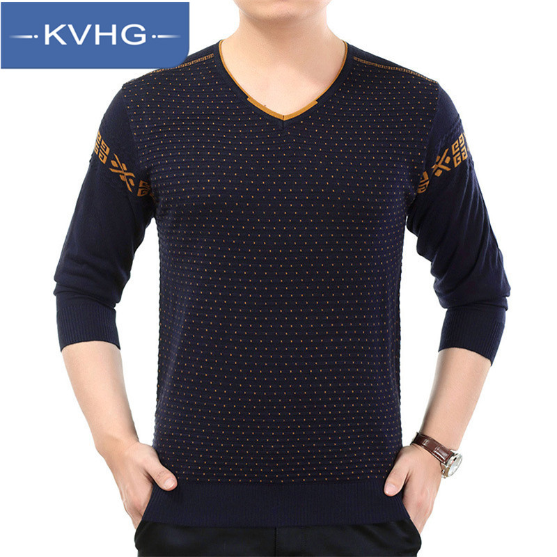 New fall fashion KVHG2016 leisure hedging sweater korean version of casual v-neck sweater men tide 0827
