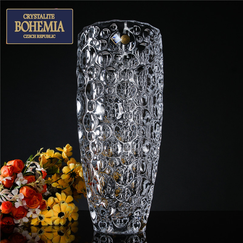 New imported bohemia czech bohemian crystal glass vase modern and stylish vase floral ornaments