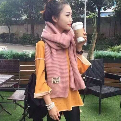 New korean female winter wool scarves korean thick warm winter long section of students draped shoulder couple solid