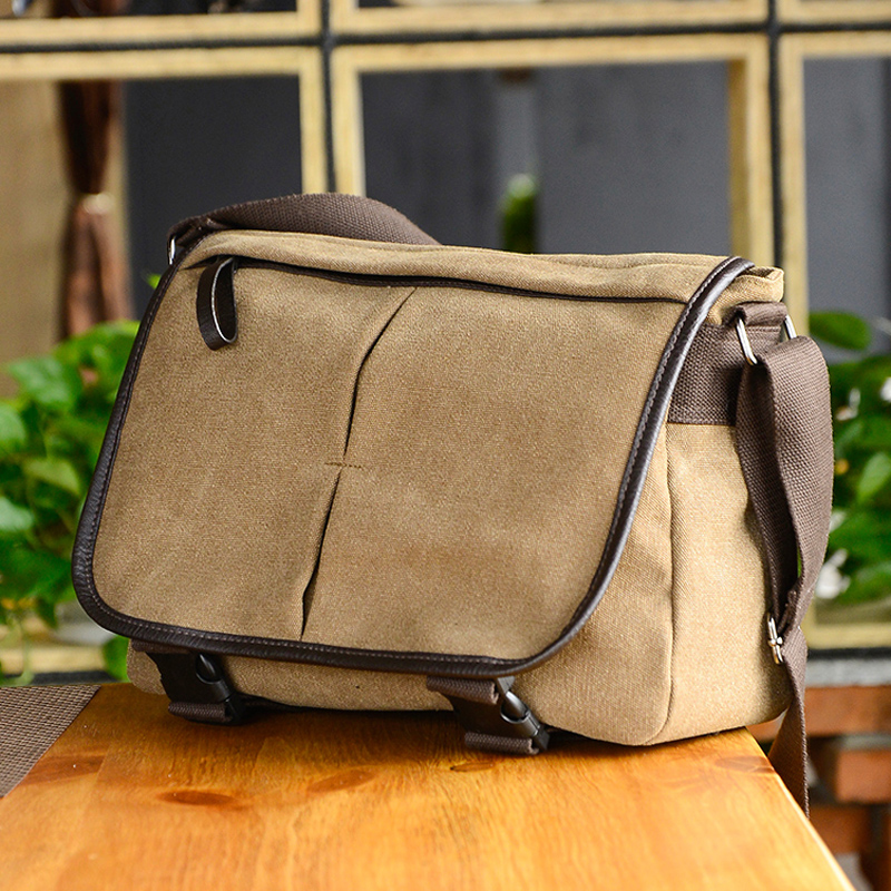 New korean version of the trend of casual shoulder bag man bag men's messenger bag canvas bag when shang student backpack big bag