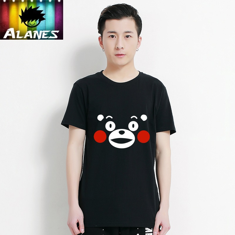 New kumamon kumamoto bear mascot japanese anime cartoon t-shirt lovers t-shirts for men and women stay meng things