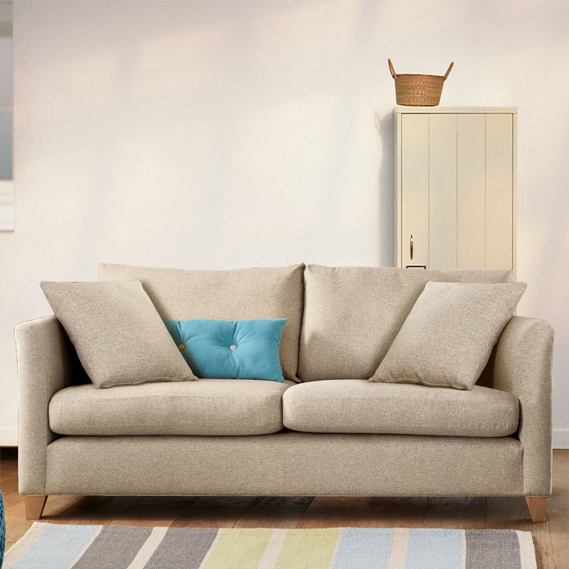 New listing modern minimalist double fabric sofa small apartment sofa multiplayer single person can be customized pastoral