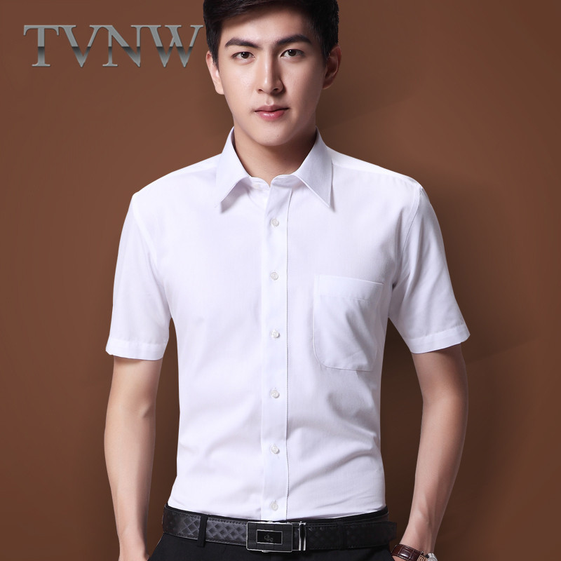 New men's business suits slim tvnw youth shirt inside the ride short sleeve shirt 2016 summer new models 8010